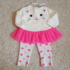 The Children's Place 2-piece Kitty Outfit NWT